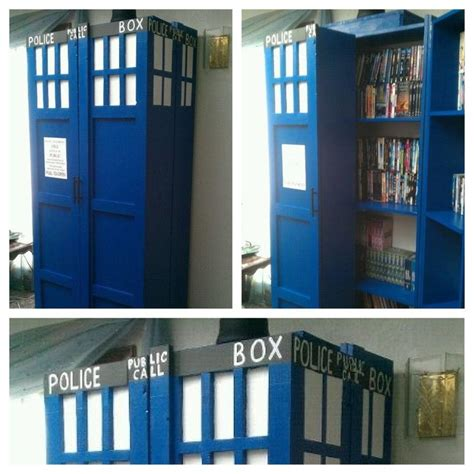 tardis dvd rack bookcase doctor who dvd