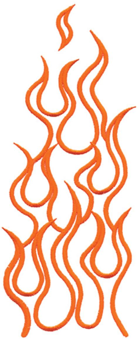 outlines embroidery design flame outline from grand slam