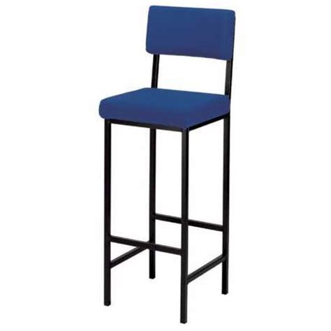 High Stool Chair With Back High Stool With Upholstered Seat Back Support