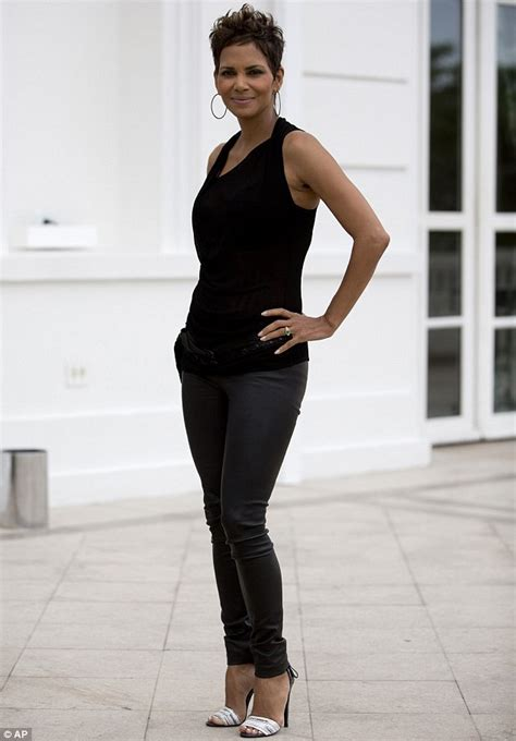 Best Maternity Style Halle Berry by Halle Berry Displays Blossoming Figure In A Sheer Top
