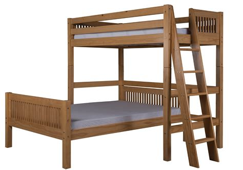 headboard bed l camaflexi twin over full loft bed l shape mission
