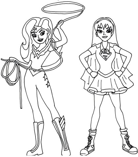 coloring page girl superhero free printable super hero high coloring pages wonder