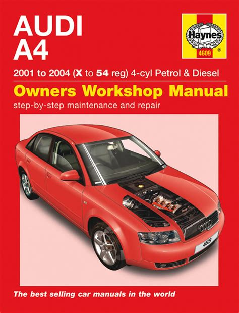 audi a4 petrol diesel 01 04 haynes repair manual haynes publishing