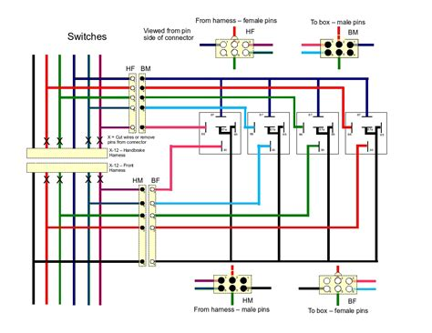 power window wiring diagram electric window switch diagram