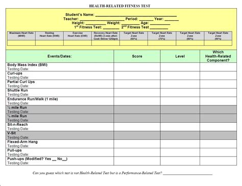 Goal Setting Worksheet by Ppz30 Health For Fitness Smart Goal Setting Worksheets