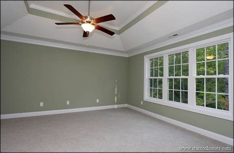 Painted Tray Ceiling Ideas Green Master Bedroom With Cool Trey Ceiling Design Tons