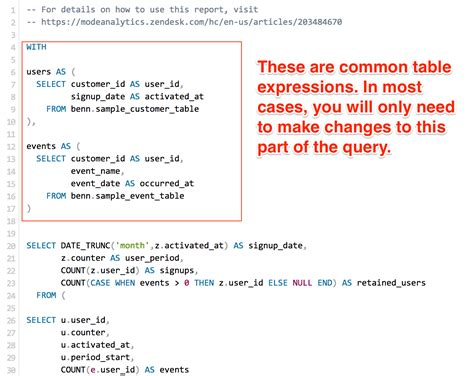 Common Table Expression by Using Mode Playbook With Your Data