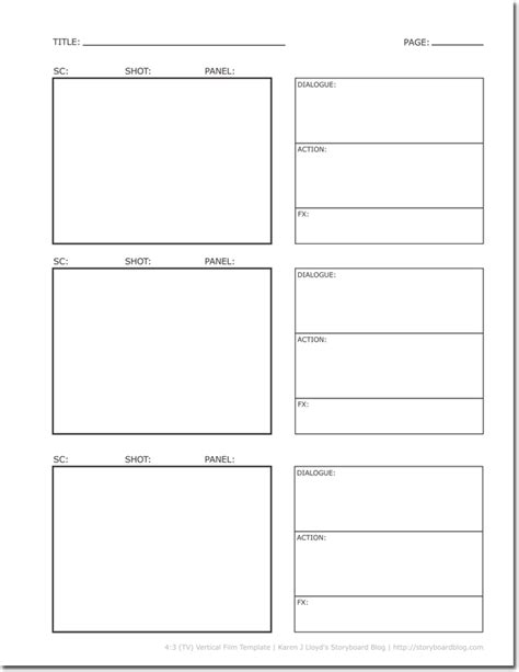 Blank Storyboard Template by 36 Free Storyboard Templates For Basic Visual And