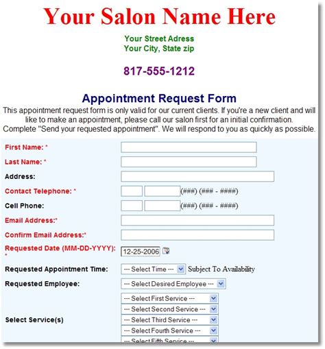 27 images of salon client forms template infovia net