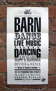 barn dance wedding invitation steven wright