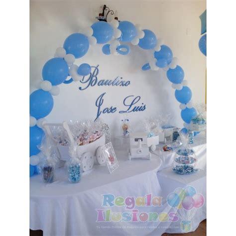 decoracion para bautizo de ni a en casa decoraci 243 n bautizo ni 241 o con globos y mesa candy regala