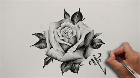 dise 241 o tatuaje rosa realista realistic rose tattoo