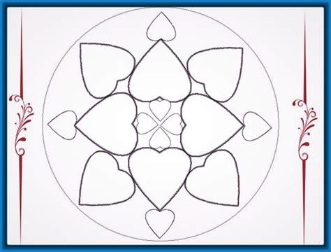 imagenes mandalas de corazones fotos de mandalas para colorear f 225 ciles dibujos de mandalas