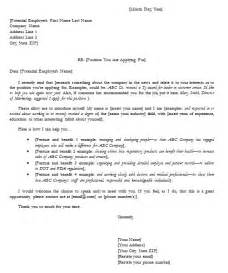 Easy Cover Letter Sle by Cover Letter Sles To Help You Find A And Easy