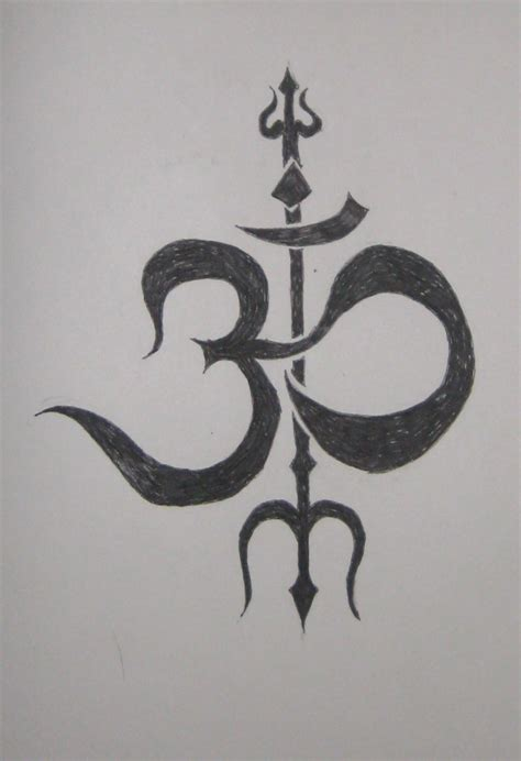 om trishul tattoo designs om trishul design by chaosolace on deviantart