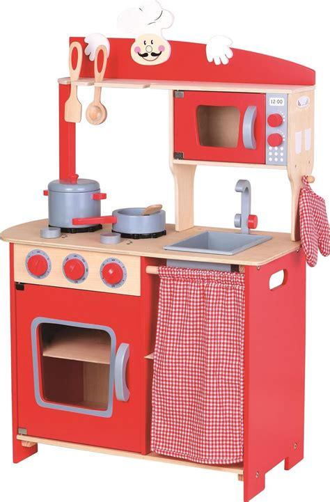 lelin wooden wood childrens pretend play kitchen cooking