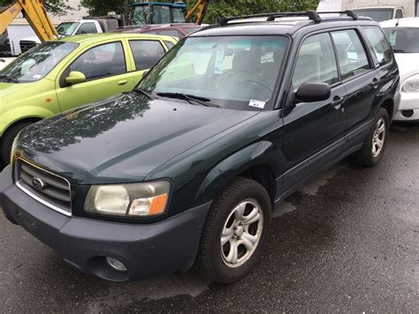 green subaru hatchback 2003 subaru forester 2 5x awd 4 door hatchback green