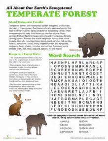 temperate forest worksheet education com