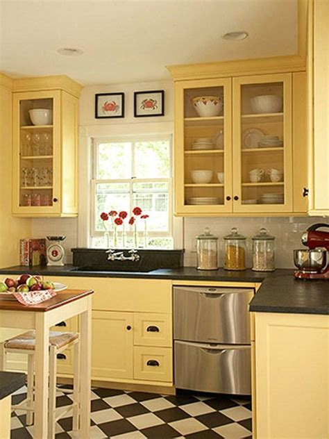 Yellow Colored Kitchen Cabinets 2016