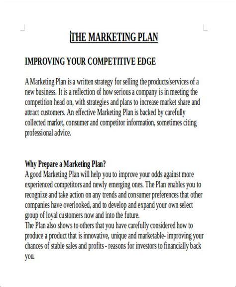 Marketing Plan Report Template 11 Sle Marketing Report Free Sle Exle Format