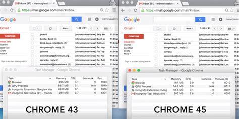 chrome memory reduce memory ram usage on google chrome with version 45