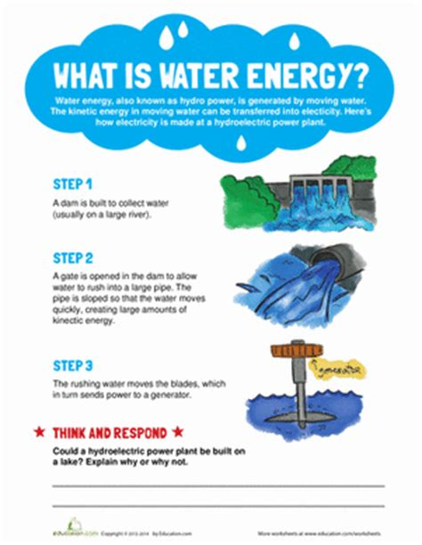 hydro electric practice a practical manual of the what is water energy worksheet education