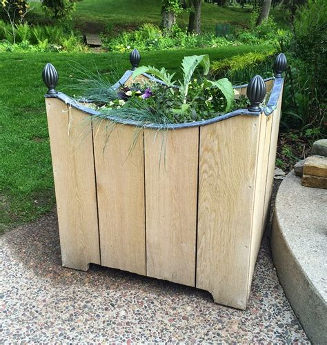 planters diy the impatient gardener diy wooden planter with lead trim