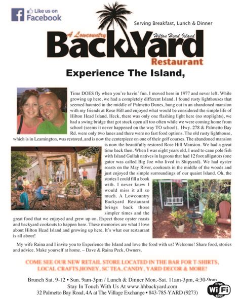 a lowcountry backyard restaurant a lowcountry backyard restaurant hilton head lowcountry