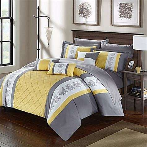 yellow comforter twin buy chic home adam 8 piece twin comforter set in yellow