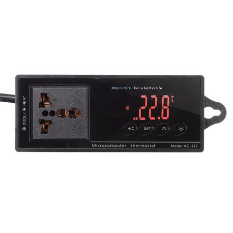 Digitec Dg3037 Digital Original 4 original 220v digital thermostat temperature controller socket for reptile aquarium tank cine