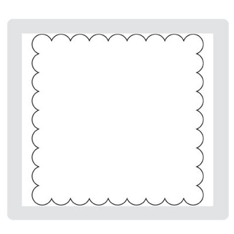 square banner template scallop square this is the outline image of a scalloped