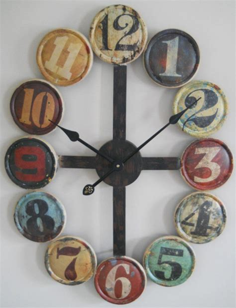 Decorative Home Items by Large Metal Wall Clock Helps You Create Your