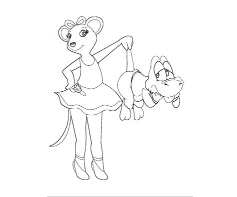 coloring pages of angelina ballerina angelina ballerina coloring pages az coloring pages