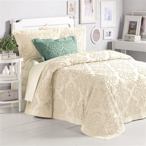 how to buy bedding 5 best price linen damask chenille bedspread king