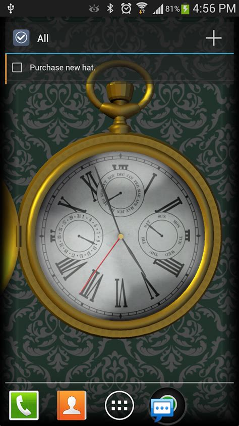 google watch wallpaper 3d pocket watch live wallpaper android apps on google play