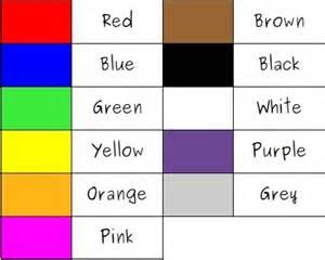 color in german colores en ingles ejemplos de