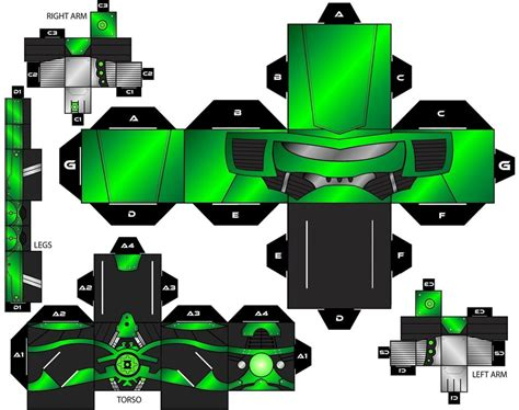 Green Lantern Papercraft - cubee craft steel green lantern dc heroes by