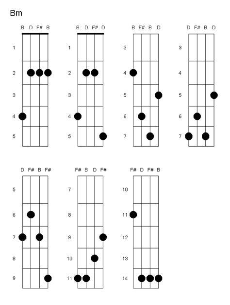 Bm Guitar Chord Variations