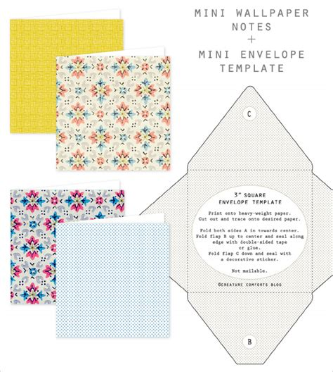 free printable mini envelope templates free printable mini wallpaper notes envelope template