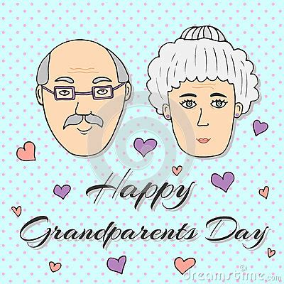 happy grandparents day card template happy grandparents day greeting card vector stock vector