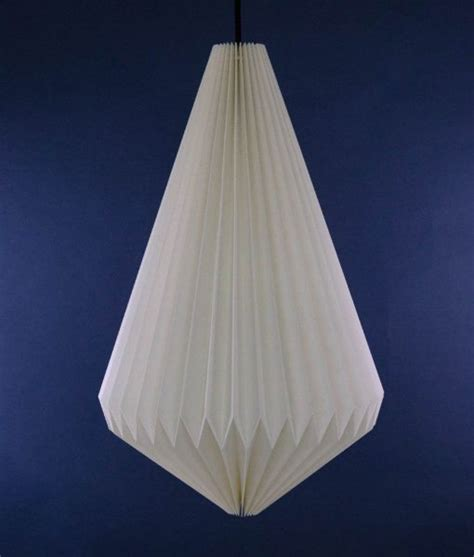 Origami L Shade - paper pendant shade pendant light with pleated paper