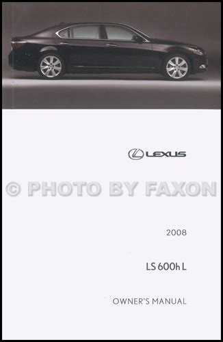 service manuals schematics 2008 lexus ls head up display 2008 lexus ls 600h l owners manual original