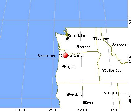beaverton oregon or profile population maps real