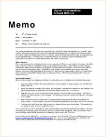 Memo Template For Pages by 6 Business Memo Exles Memo Formats