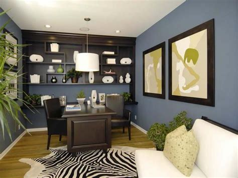 house decorating ideas blue brown home office color