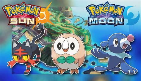 imagenes de pokemon sol y luna iniciales pok 233 mon sol y luna estas ser 225 n las evoluciones de los