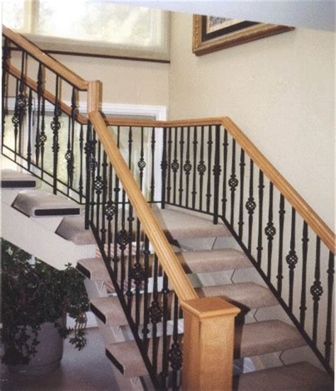 Interior Balusters by Interior Iron Stair Railing Designs
