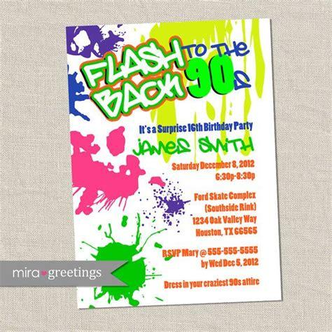 Graffiti Does Invitations by Graffiti Birthday Invitations Neon Invitation