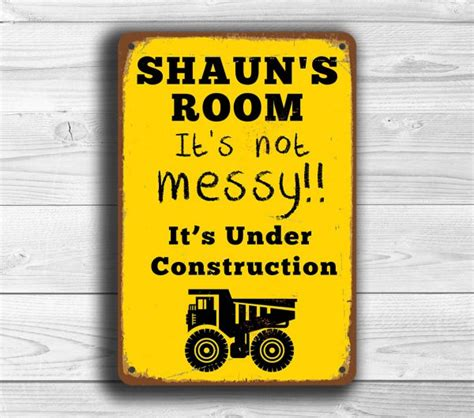 personalized boys room sign classic metal signs