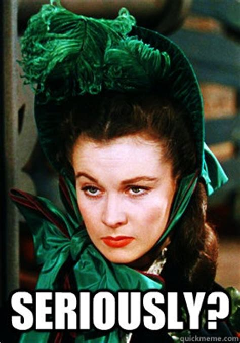 Gone With The Wind Meme - seriously skeptical scarlett icons pinterest